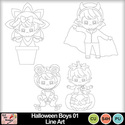 Halloween_boys_01_line_art_preview_small