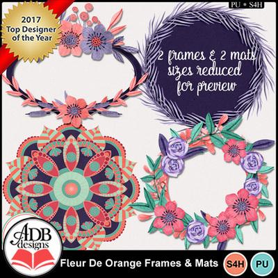 Fleurdeorange_frames_mats