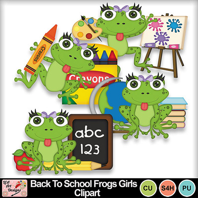 Back_to_school_frogs_girls_clipart_preview