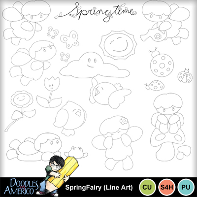 Springfairy_lineart