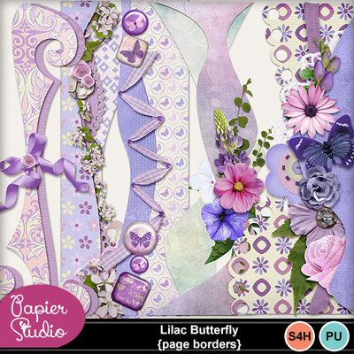 Lilac_butterfly_page_borders