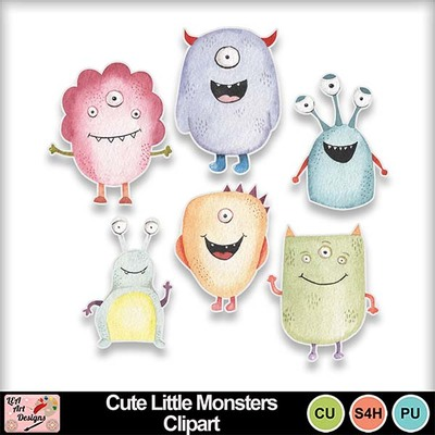 Cute_little_monsters_clipart_preview