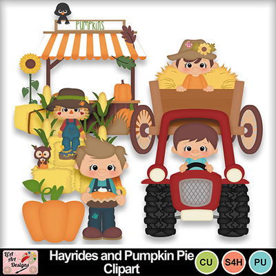 Hayrides_and_pumpkin_pie_clipart_preview