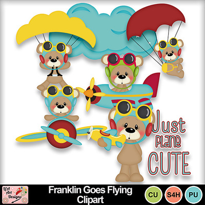 Franklin_goes_flying_clipart_preview