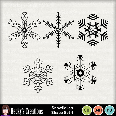 Snowflakes_shape_set_1