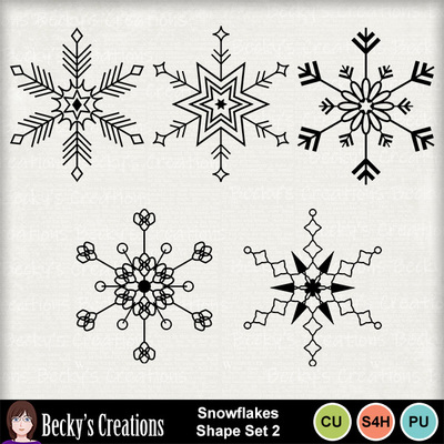 Snowflakes_shape_set_2