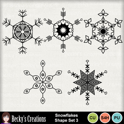 Snowflakes_shape_set_3