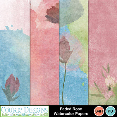 Faded_rose_watercolor_papers