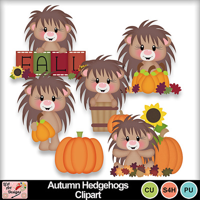 Autumn_hedgehogs_clipart_preview