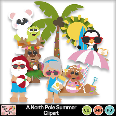 A_north_pole_summer_clipart_preview