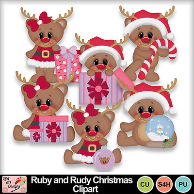 Ruby_and_rudy_christmas_clipart_preview