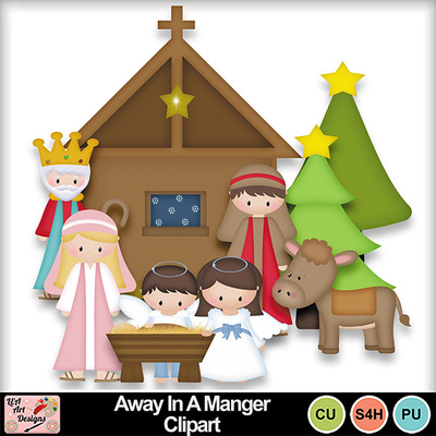 Away_in_a_manger_clipart_preview