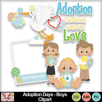 Digital Scrapbooking Kits Adoption Days Boys Clipart Lea Babies Boys Commercial Use Family Friends Memories Mymemories