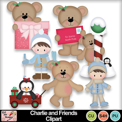 Charlie_and_friends_clipart_preview