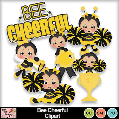 Bee_cheerful_clipart_preview