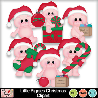 Little_piggies_christmas_clipart_preview