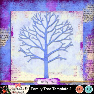 Digital Scrapbooking Kits Family Tree Template 2 Aniaw Everyday Family Friends Heritage Memories Mymemories