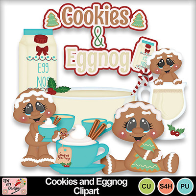 Cookies_and_eggnog_clipart_preview