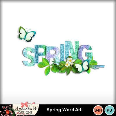 Springwordart