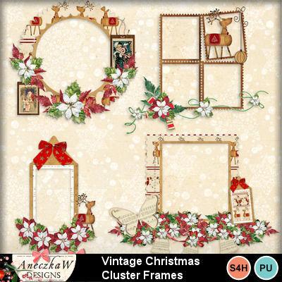 Vintage_christmas_-_cluster_frames_2