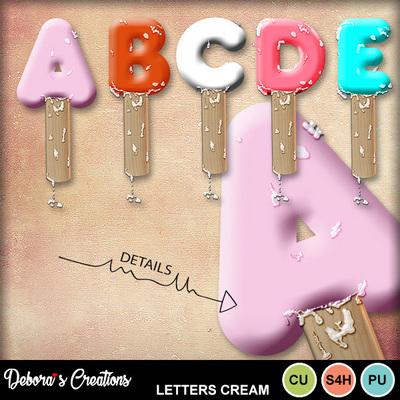 Letters_cream