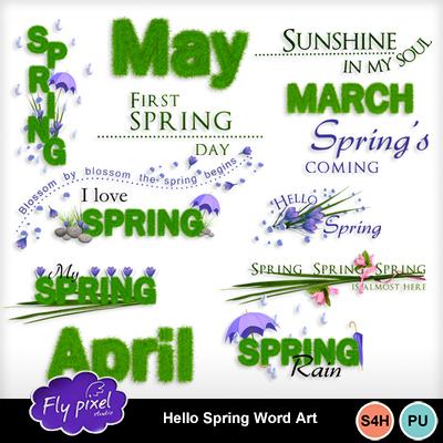 Hello_spring_word_art