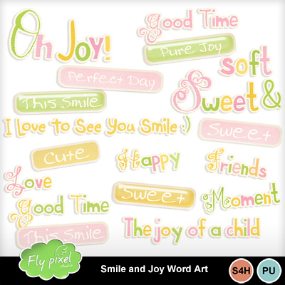 Smile_and_joy_word_art