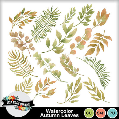 Lisarosadesigns_watercolorautumnleaves