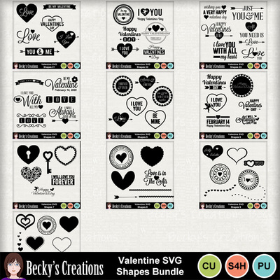 Valentine_svg_shapes_bundle