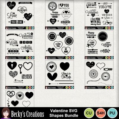 Valentine_svg_shapes_bundle
