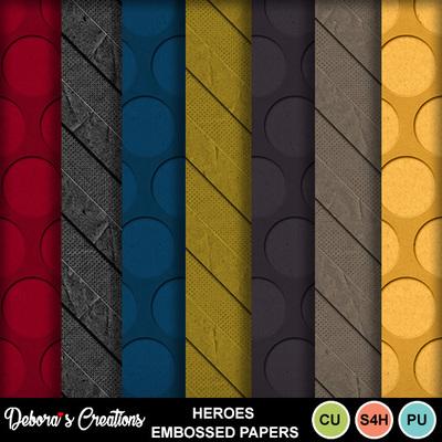 Heroes_embossed_papers