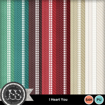 I_heart_you_pattern_papers