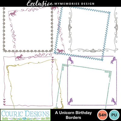 A_unicorn_birthday_borders