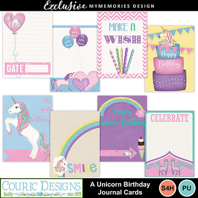 A_unicorn_birthday_journal_cards