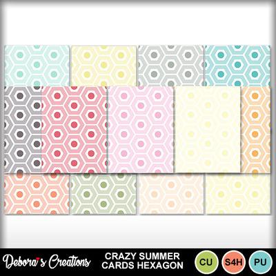 Crazy_summer_cards_hexagon