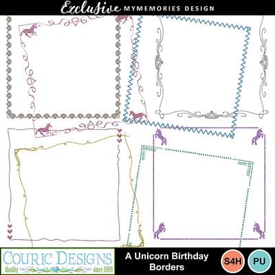 A_unicorn_birthday_borders