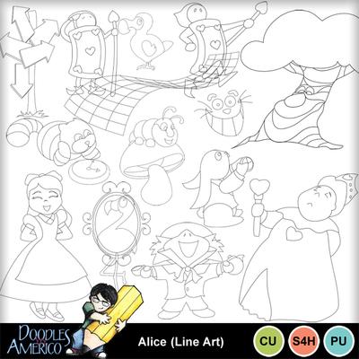 Alice_lineart