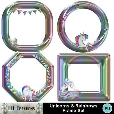 Unicorns___rainbows_frame_set-01
