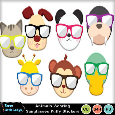 Animal_wearing_sunglasses_puffy_stickers-tll