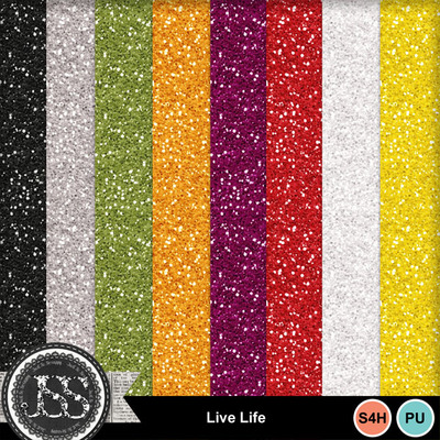 Live_life_glitter_papers