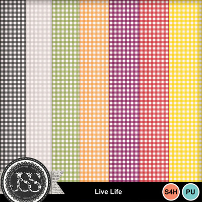 Live_life_gingham_papers
