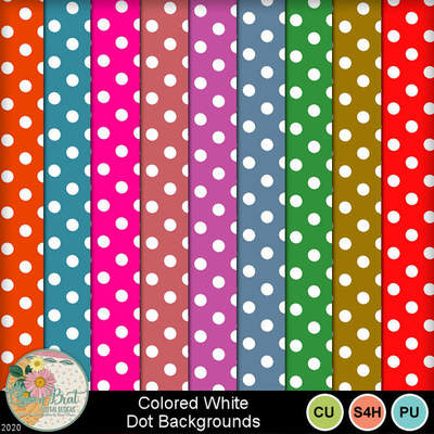 Coloredwhitedots