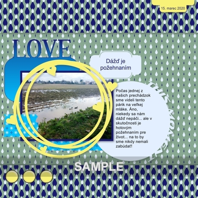Digital Scrapbooking Kits Rainy Days Paper Pack Tincika Decorative Everyday Memories Nature Outdoors Seasons Spring Mymemories