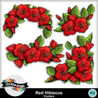 Lisarosadesigns_redhibiscus_cclusters