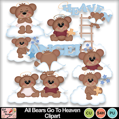 All_bears_go_to_heaven_clipart_preview