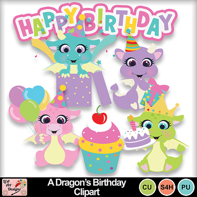 A_dragon_s_birthday_clipart_preview