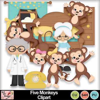 Five_monkeys_clipart_preview
