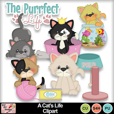 A_cat_s_life_clipart_preview