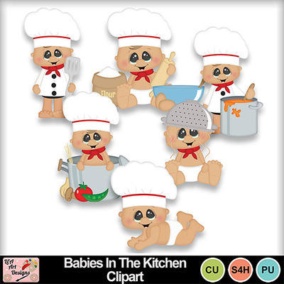 Babies_in_the_kitchen_clipart_preview