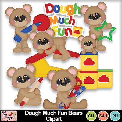 Dough_much_fun_bears_clipart_preview